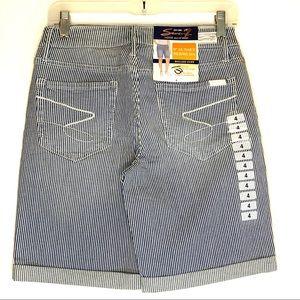 Seven7 Bermudas,  Comfort Stretch Denim Shorts.